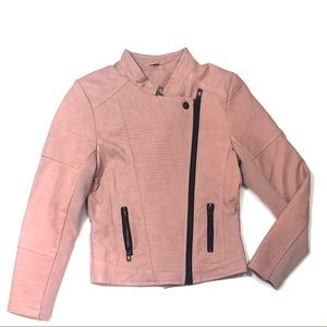 Coffee Shop blush motor jacket faux leather